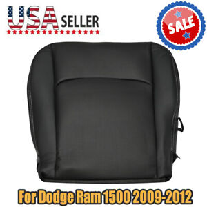 For Dodge Ram 1500 Sport 2009 2012 Driver Side Bottom Leather Seat Cover Blk As
