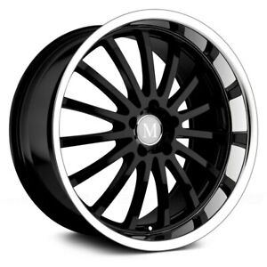 Mandrus Millenium Wheel 22x9 42 5x112 66 56 Black Single Rim