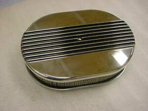 Mopar Ford Gm Street Rod 12 Finned Oval Air Cleaner