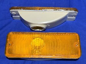 Ford F 150 250 350 Series Year 1973 1977 Amber Front Turn Signals New Acrylic