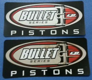 2 Cp Piston Bullet Series Racing Decals Stickers 3x6 25 Drags Nhra Offroad Utv