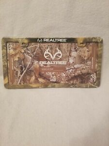Realtree Edge Camo License Plate Frame Hunting Outdoors Trucks Auto Nwt