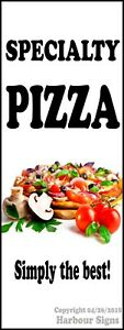 Specialty Pizza Decal choose Your Size Food Truck Concession Vinyl Sticker