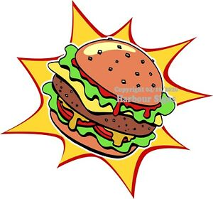 Hamburger Burger Decal choose Your Size Food Truck Sign Concession Sticker