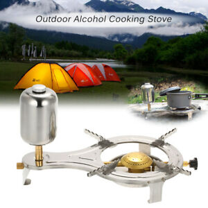Camping Liquid Alcohol Stove Outdoor Picnic Hiking Travel Cooking Gasify Burner