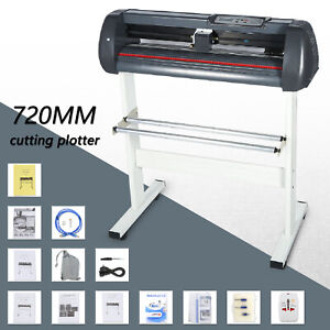 Us Stock 28 Vinyl Cutter plotter Make Signs For Decals Stickers 720mm