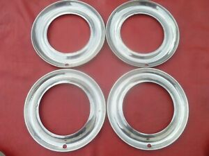 Vintage 1948 50 Dodge Plymouth 15 Trim Rings Hubcaps Wheel Covers