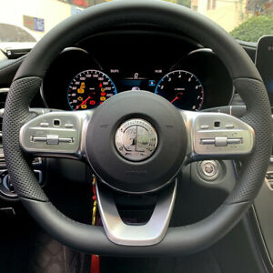 57mm Amg Steering Wheel Affalterbach Emblem 3d Interior Badge Stickers For Benz