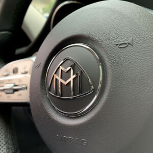 57mm Steering Wheel Emblem Badge For Mercedes benz Maybach W222 S Class Stickers