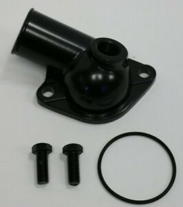 Sbc Bbc Chevy Black Water Neck Thermostat Housing 15 With Temp Port 350 454