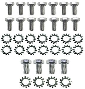 Oldsmobile Chrome Hex Head Oil Pan Bolt Kit With Washers 330 350 400 455 9805