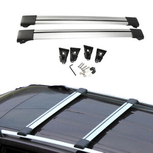 36 39 Universal Locking Cross Bar Car Top Suv Roof Rack Luggage Carrier Silver