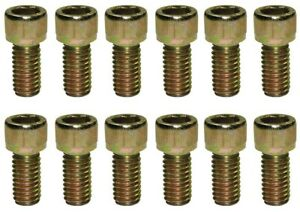 Sb Chevy Zinc Allen Head Header Bolt 12pc Kit 3 8 16 X 3 4 327 350 Sbc 9825
