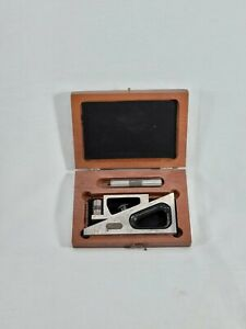Starrett No 599 Planer And Shaper Gage Inspection Tool Original Wood Box Vintage