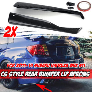 Carbon Fiber Bottom Line Cs Style Rear Bumper Aprons For Subaru Impreza Wrx Sti
