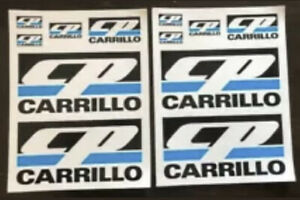 Cp Carrillo 2sheets 12pcs Racing Decals Stickers Drags Nhra Offroad Hotrods Imca
