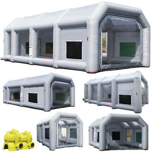 Inflatable Car Or Parts Paint Booth Portable Job Tent With Ul Blowers
