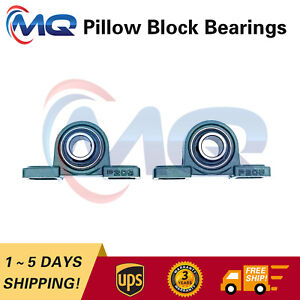 Pair Of 2 Brand New Ucp205 16 Pillow Block Bearing 1 Bore 2 Bolt Solid Base