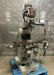 Kent Usa Vertical Mill Ktm 3s Bridgeport Style Milling Machine 3hp Dro Year 2013