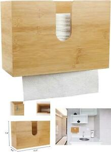 Pengke Bamboo Paper Towel Dispenser wall Mount And Countertop Multifold Paper To
