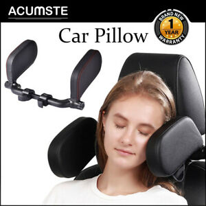 Car Seat Headrest Pad Pillow Head Neck Rest Support Cushion Sleep Adjustable
