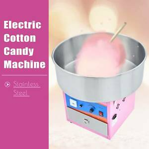 Commercial Electric Machine Kids Party Sugar Floss Ss Cotton Candy Maker Pink