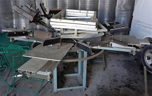 Rototex Multi Printer 6 Station Screen Printing Press 160206