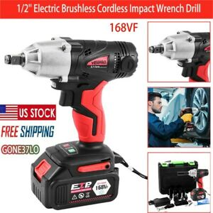 1 2 16800mah Electric Brushless Cordless Impact Wrench Drill High Torque 10ml