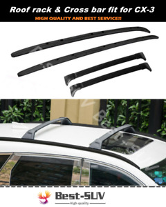 4pcs Fit For Mazda Cx 3 Cx3 2016 2021 Aluminum Roof Rail Rack Cross Bar Crossbar