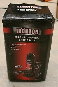 New Ironton 2 Ton Hydraulic Bottle Jack Automotive Vehicle Repair Tools