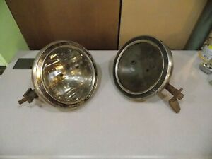 Original Vintage 1917 Head Light Buckets Assembly 11 Ford Chevy Dodge Buick