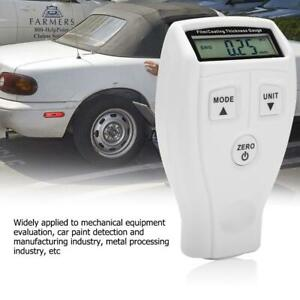 Lcd Digital Auto Car Paint Coating Thickness Tester Measuring Gauge Meter 0 1800