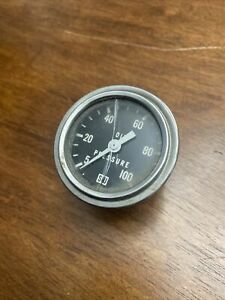 Sw Stewart Warner Vintage Oil Pressure Gauge 0 100 Psi H D Hot Rat Rod 2 In