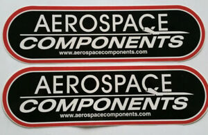 2 Aerospace Components Racing Decals Stickers 3x10 Drags Nhra Nmra Hot Rods