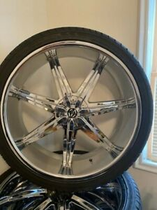 26 Chrome Rims And Tires Used