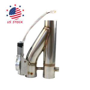 Electric Exhaust Control E cut Out Dual Valve Y Pipe With Remote 2 5 Inch 63mm