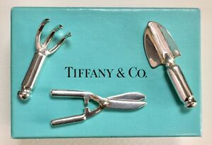 Tiffany Co Sterling Silver Miniature Doll House Garden Gardening Tool Set