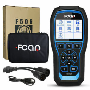Heavy Duty Diesel Truck Diagnostic Scanner Tool Abs Srs Immo Tpms Fcar F506