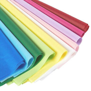 120 pack Assorted Multi Color Gift Wrap Tissue Paper Wrapping Supply 19 7 X 26