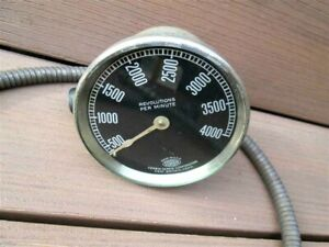 Vintage Corbin Screw Corp 4 000 Rpm Tachometer Cable Motorcycle Car Industrial