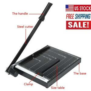 12 Heavy Duty Guillotine Paper Cutter Photo Trimmer Booking Blade A4 To B7
