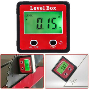 4 90 Level Box Gauge Digital Lcd Protractor Magnetic Inclinometer Angle Finder
