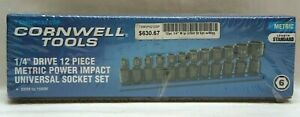 Cornwell Tools 1 4 Drive 12 Piece Metric Power Impact Universal Socket Set