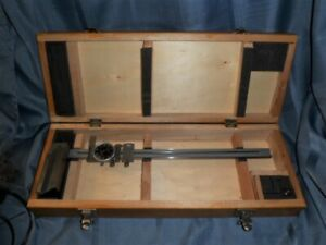 Vintage Dial Height Gage Gauge In Fitted Wooden Case