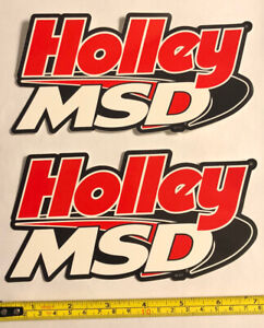 2 Holley Msd Racing Decals Stickers Drags Offroad Nhra Hotrods Ihra Outlaws Lsx