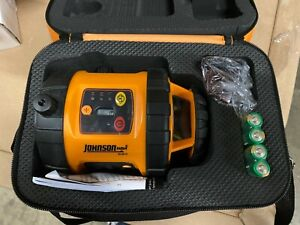 Johnson Self leveling Rotary 800 Laser Level With Glasses And Case