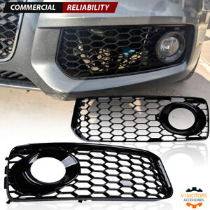 Black Honeycomb Mesh Fog Light Grill Cover For Audi A5 S Line S5 B8 Rs5 08 12