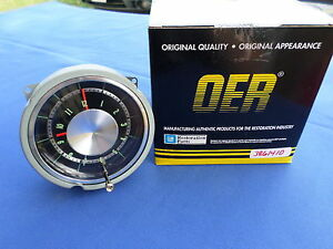 New 1965 Impala Belair Biscayne In Dash Clock Oer Parts 3861410 Gm Licensed