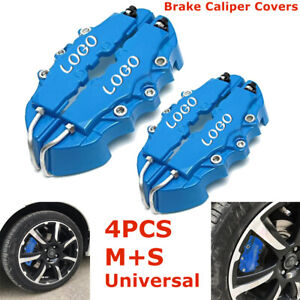 4x Bule Style 3d Car Universal Disc Brake Caliper Covers Front Rear Kit M S