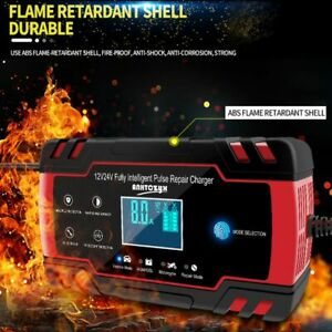 Smart Automatic Car Battery Charger Motorcycle Jump Starter Pulse 12 24v Agm gel